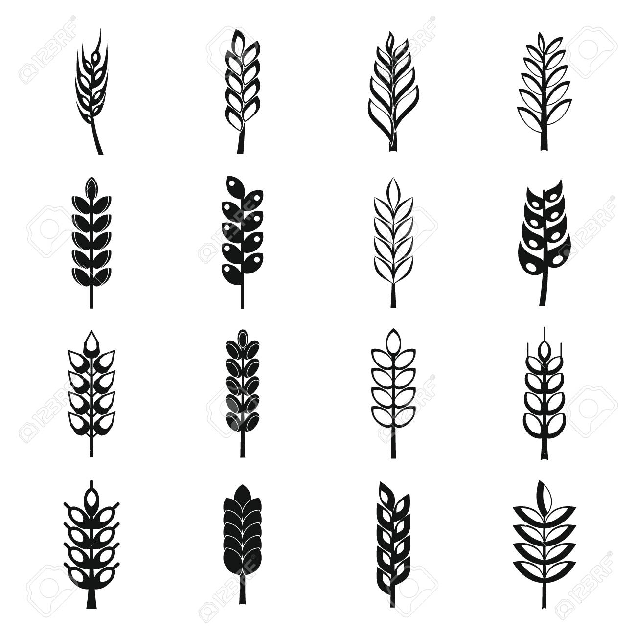 hight resolution of ear corn icons set simple style stock vector 70800726
