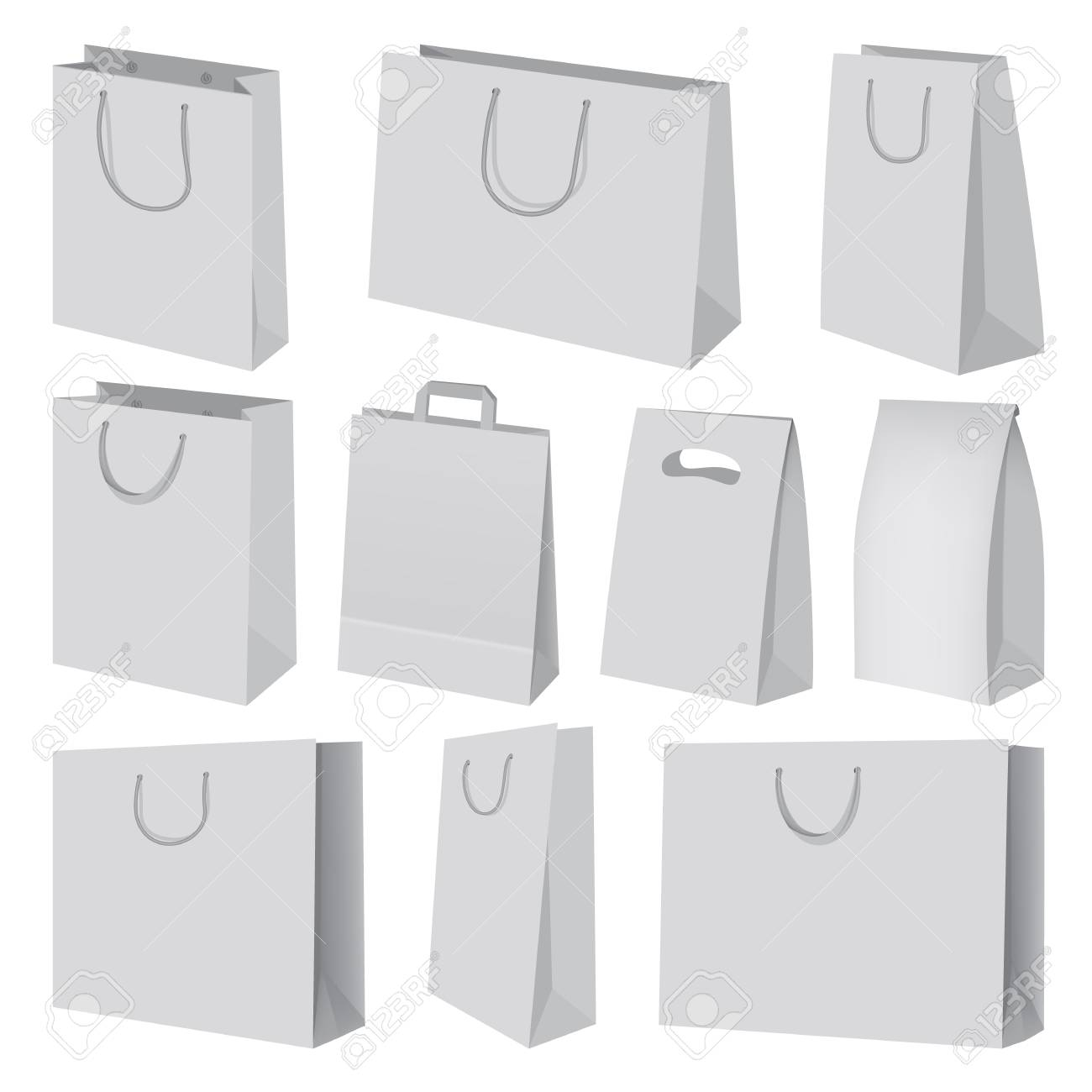 If you're working on branding for some company, shopping bag could be a hassle. Paper Bag Mockup Set Realistic Style Royalty Free Cliparts Vectors And Stock Illustration Image 78408445