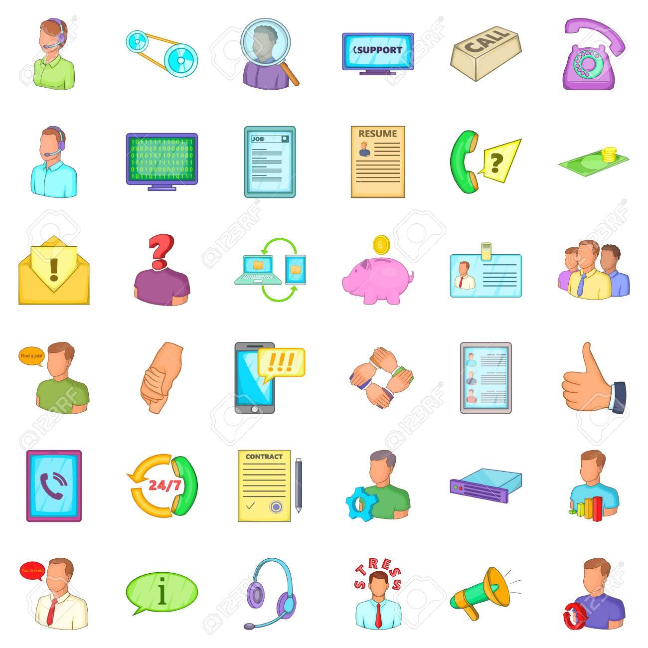 business process icons set