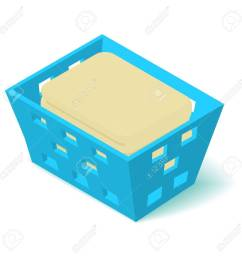 laundry basket icon isometric 3d style stock vector 84477583 [ 1300 x 1300 Pixel ]