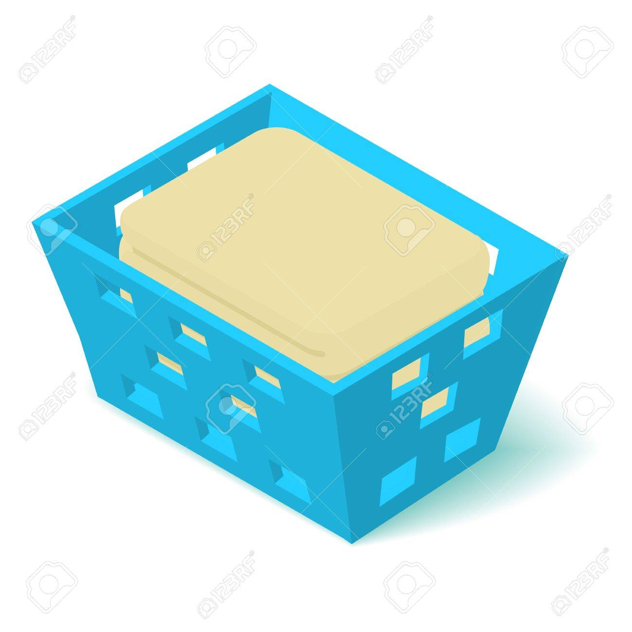 hight resolution of laundry basket icon isometric 3d style stock vector 84477583