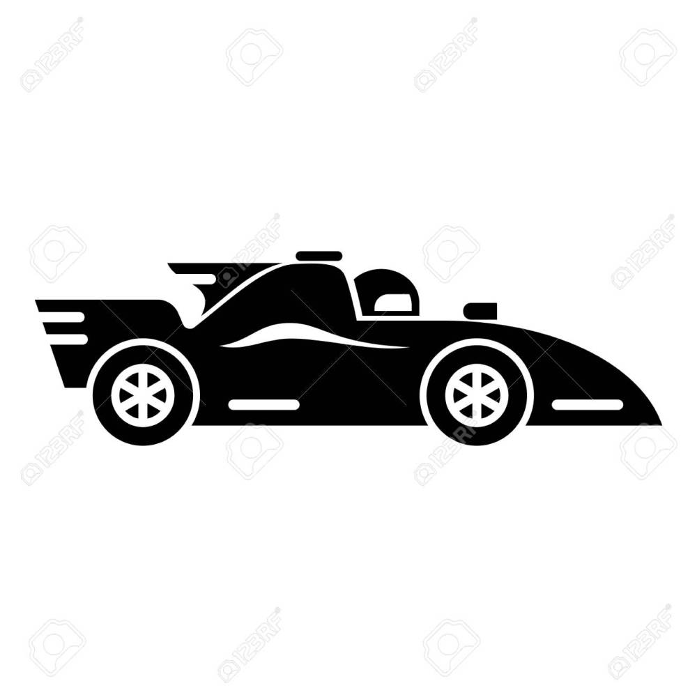 medium resolution of racing car icon simple black style stock vector 93978554