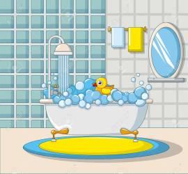 Bathroom Interior Icon Cartoon Style Royalty Free Cliparts Vectors And Stock Illustration Image 97044050