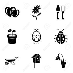 Front Garden Icons Set Simple Set Of 9 Front Garden Vector Icons Royalty Free Cliparts Vectors And Stock Illustration Image 106657936