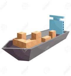 cargo ship icon cartoon style stock photo 106779272 [ 1300 x 1300 Pixel ]