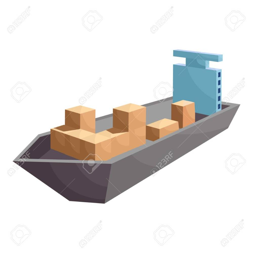 medium resolution of cargo ship icon cartoon style stock photo 106779272
