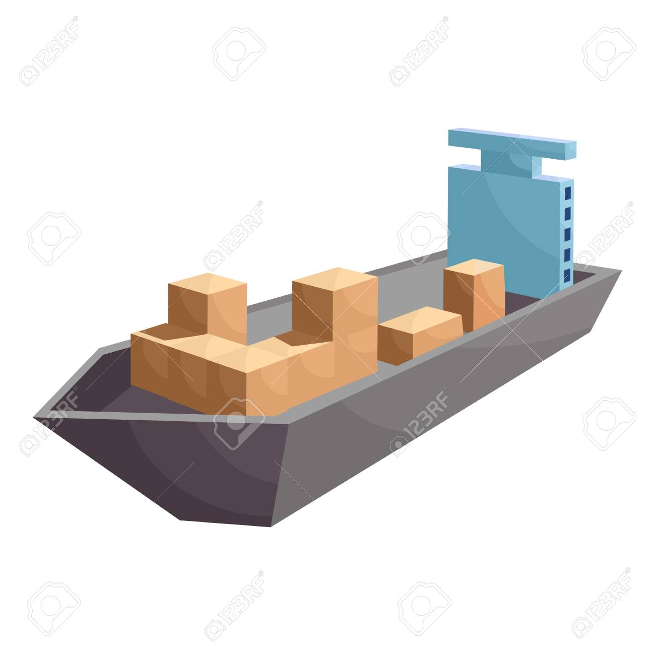 hight resolution of cargo ship icon cartoon style stock photo 106779272