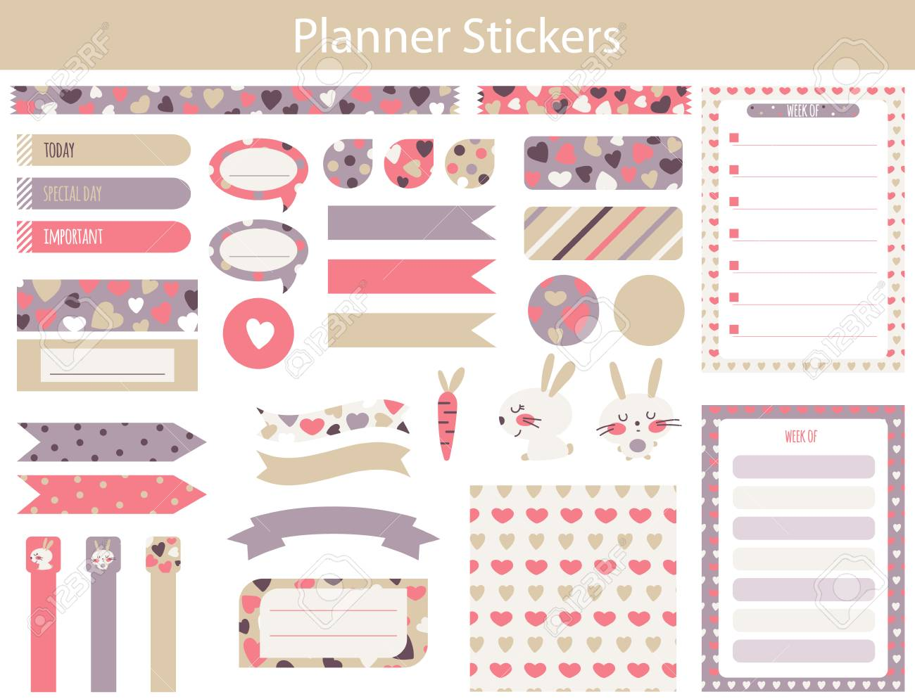planner stickers with cute