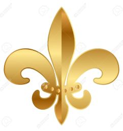 gold fleur de lis ornament stock vector 17968313 [ 1300 x 1300 Pixel ]