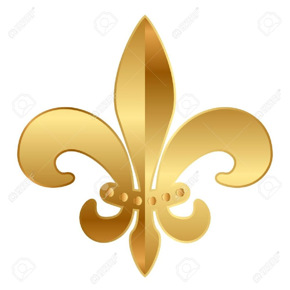 medium resolution of gold fleur de lis ornament stock vector 17968313
