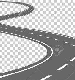 curved road with white markings vector illustration stock vector 48452618 [ 1300 x 754 Pixel ]