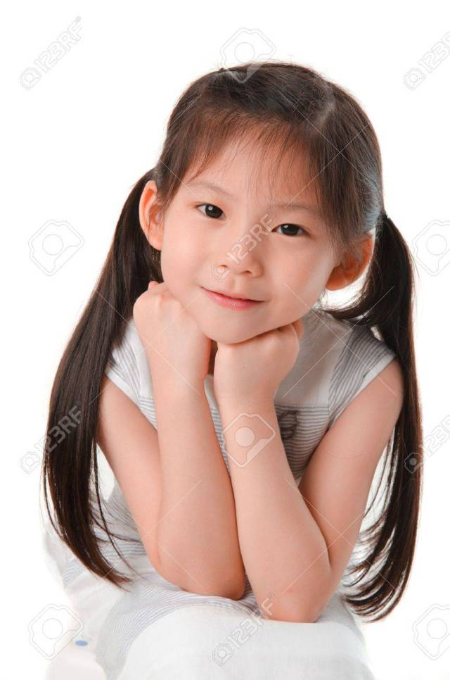 Close Up Photo Of Cute Little Asian Girl Stock Photo 16128696