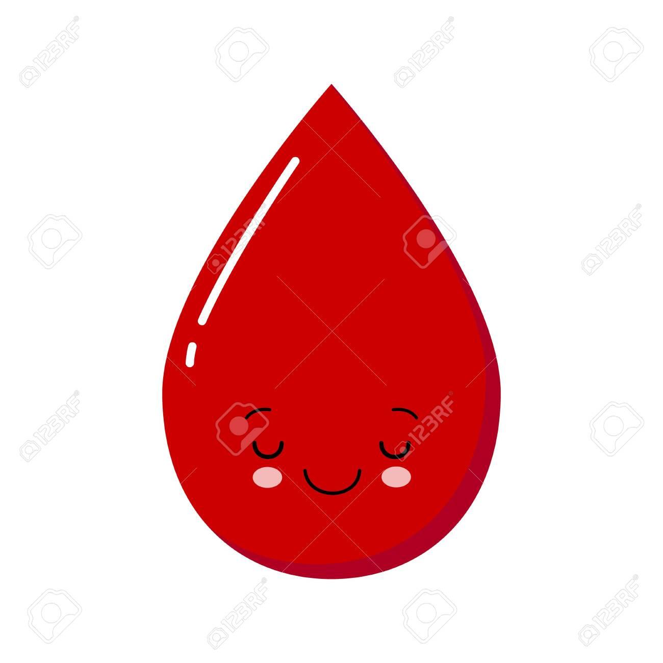 Cute Cartoon Blood Drop Character Medical Vector Illustration Royalty Free Cliparts Vectors And Stock Illustration Image 132512161