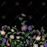 Embroidery Flowers Embroidered Design Elements With Flowers Royalty Free Cliparts Vectors And Stock Illustration Image 75192931