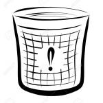 A Wastebasket With An Exclamation Point Stock Photo Picture And Royalty Free Image Image 121033780