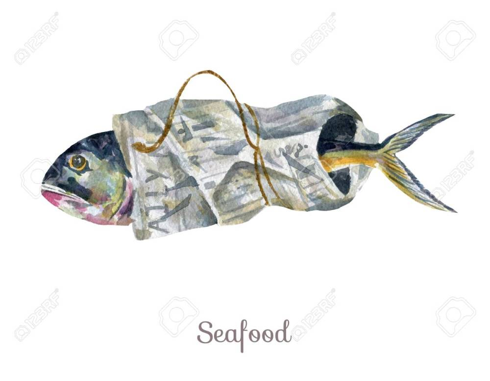 medium resolution of stock photo watercolor seafood clipart fish