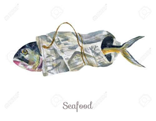 small resolution of stock photo watercolor seafood clipart fish
