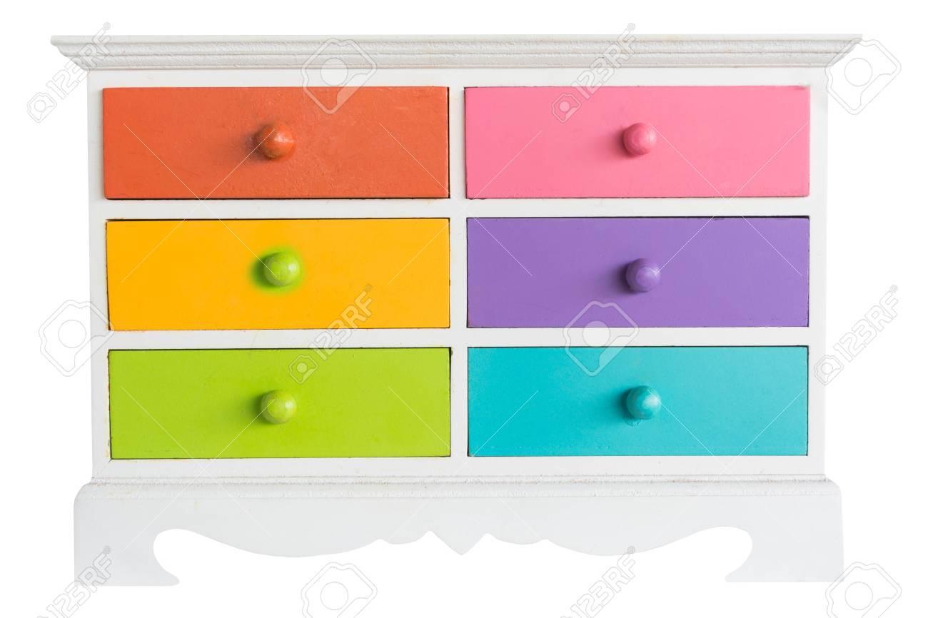 colore d accessoires armoire avec tiroir isole sur fond blanc