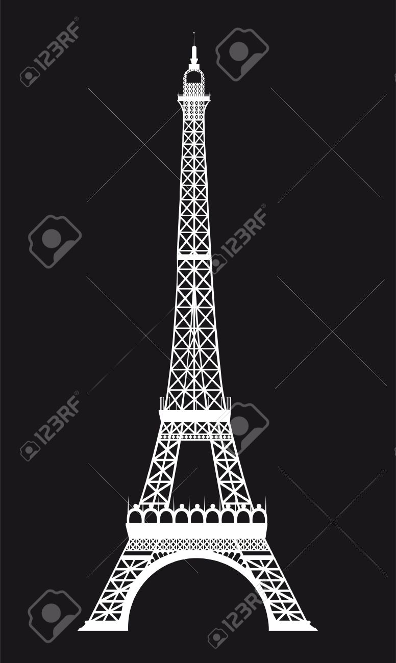 white eiffel tower over