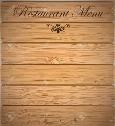 Restaurant Menu Over Wooden Background Vector Illustration Royalty Free Cliparts Vectors And Stock Illustration Image 19626064