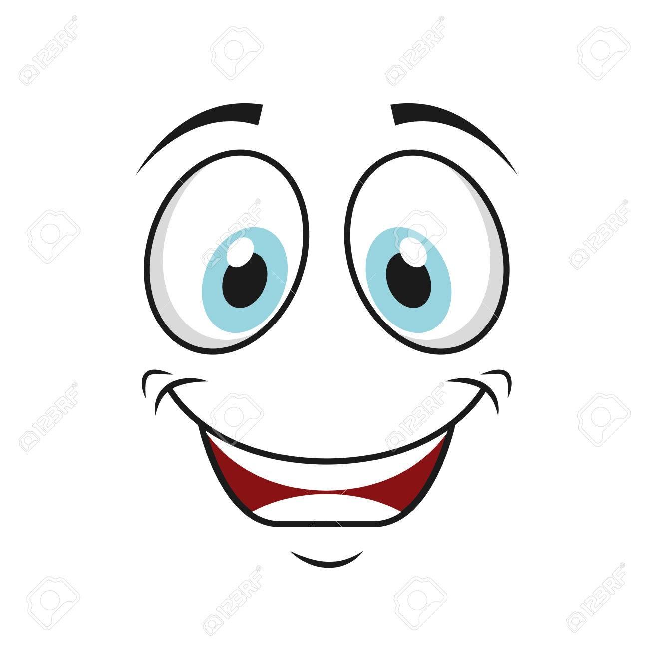 happy funny cartoon face