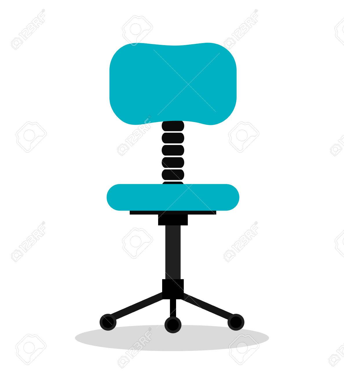 office chair illustration wheelchair glider isolated icon design vector graphic stock 60274509