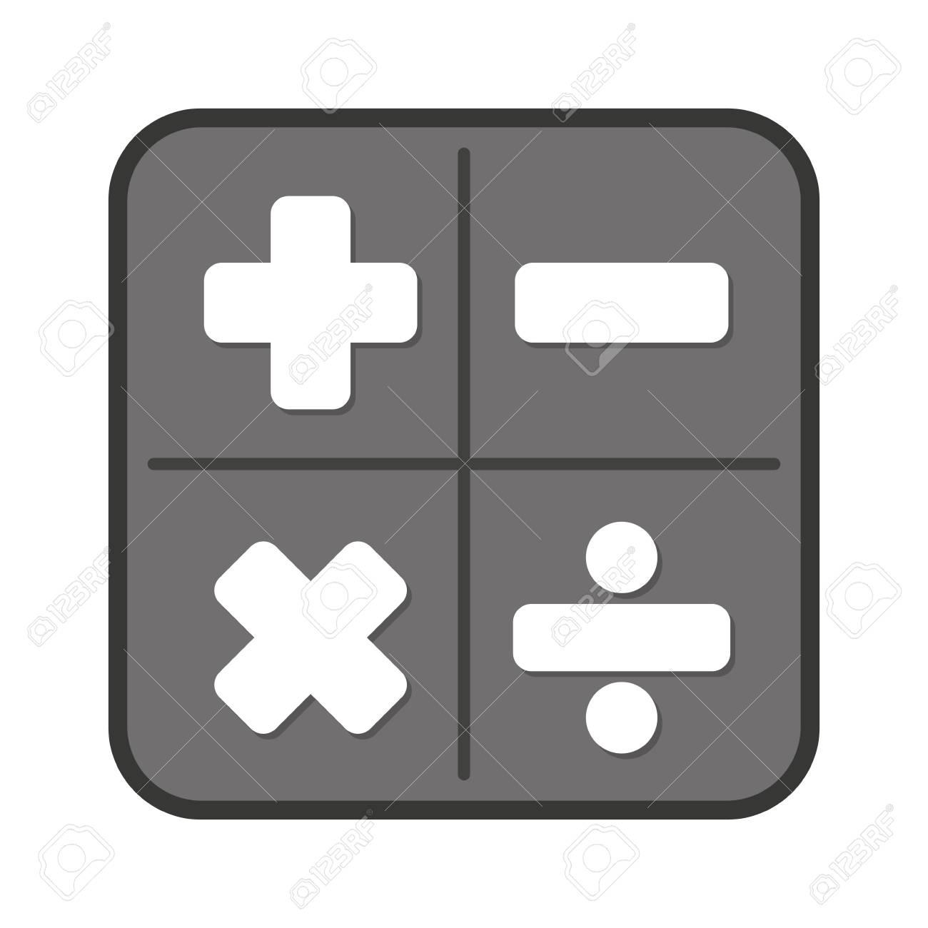 calculator app isolated icon