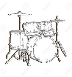 drum set musical instrument traditional music element vector illustration stock vector 62576473 [ 1300 x 1300 Pixel ]