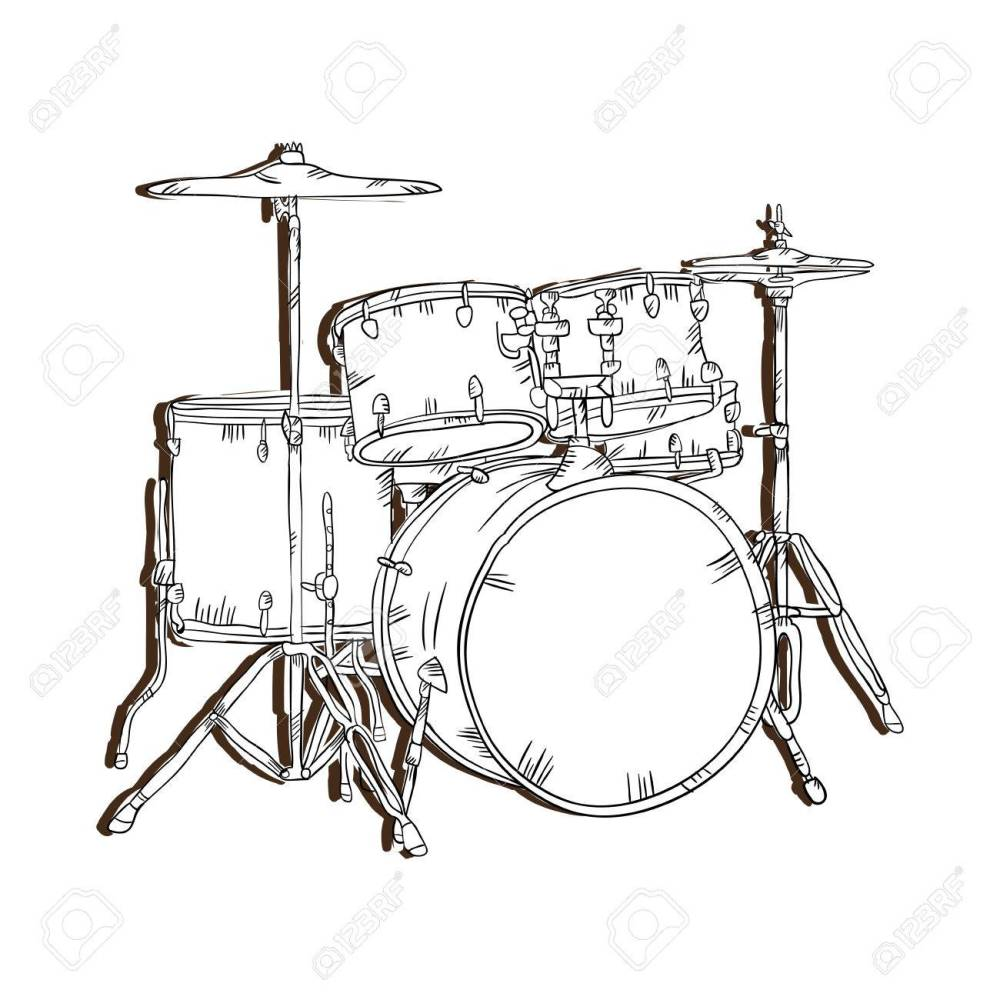 medium resolution of drum set musical instrument traditional music element vector illustration stock vector 62576473