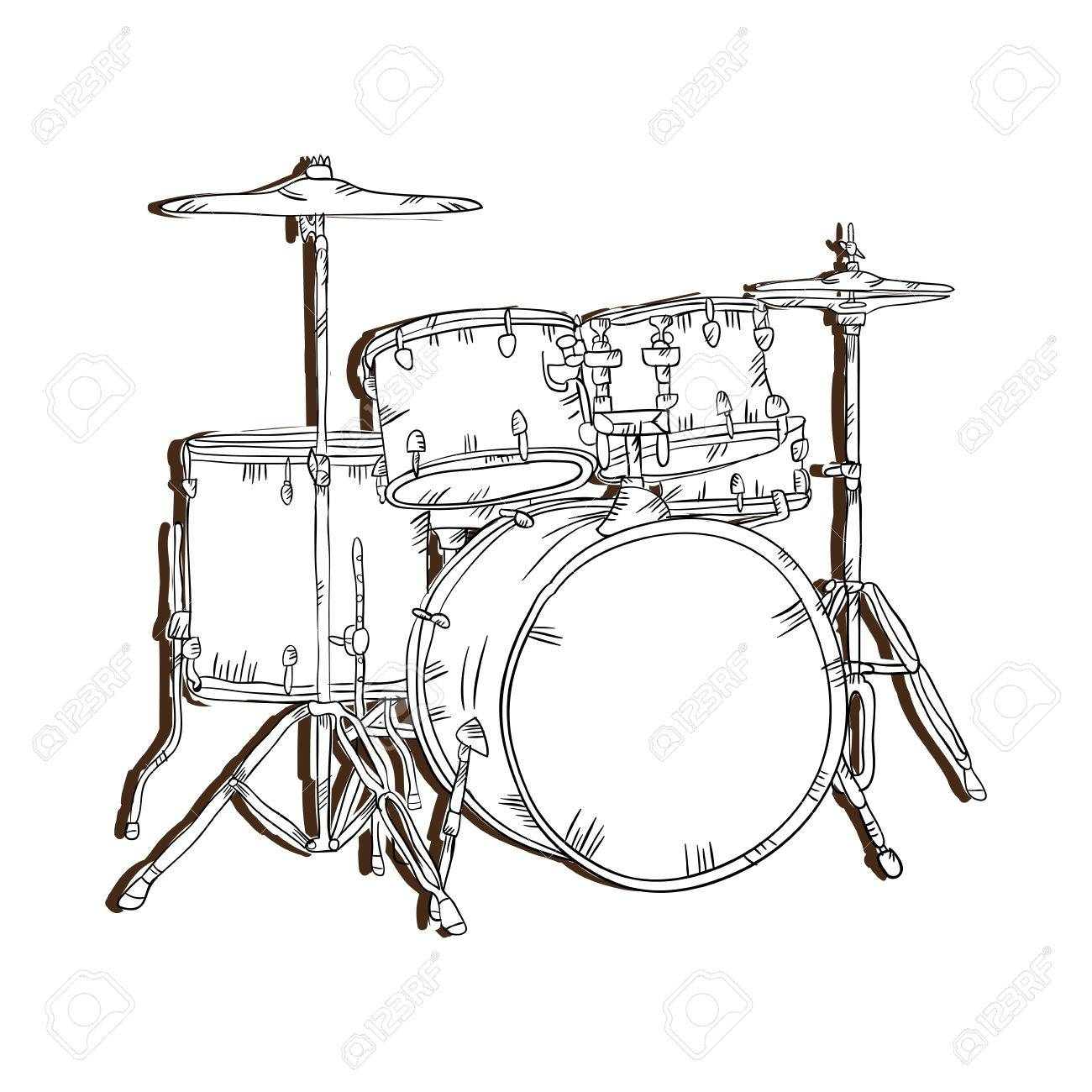 hight resolution of drum set musical instrument traditional music element vector illustration stock vector 62576473