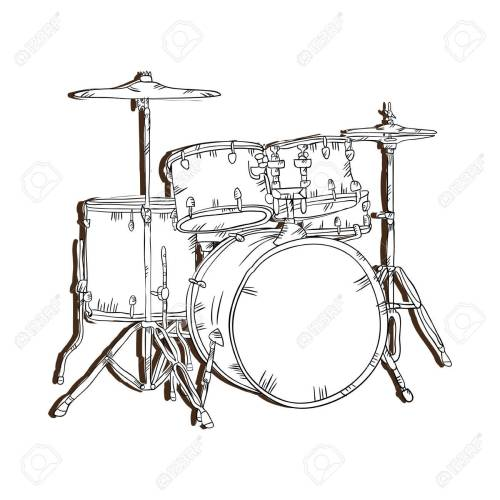 small resolution of drum set musical instrument traditional music element vector illustration stock vector 62576473