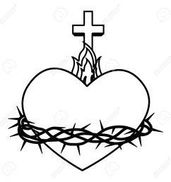 sacred heart of jesus vector illustration design stock vector 66752173 [ 1300 x 1300 Pixel ]