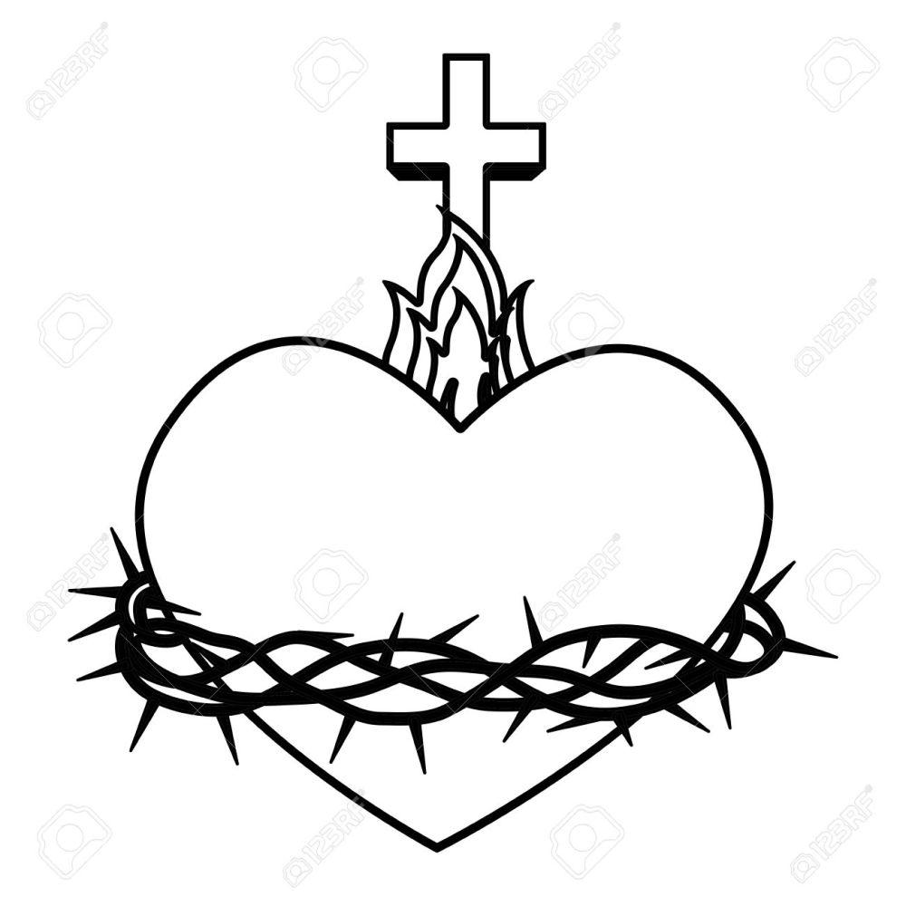 medium resolution of sacred heart of jesus vector illustration design stock vector 66752173
