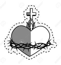 sacred heart of jesus vector illustration design stock vector 66752174 [ 1300 x 1300 Pixel ]