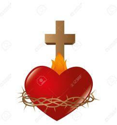 sacred heart of jesus vector illustration design stock vector 67018934 [ 1300 x 1300 Pixel ]
