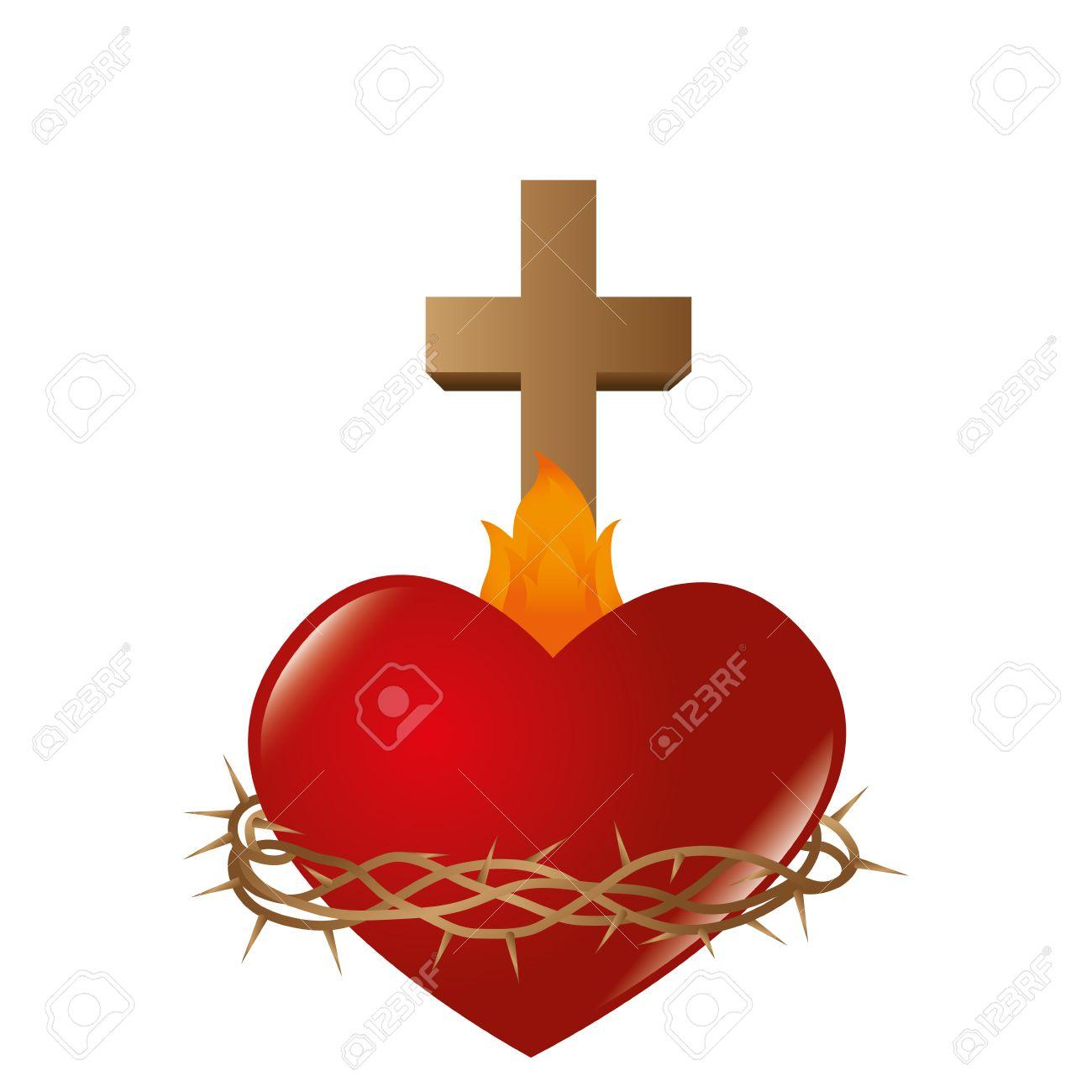hight resolution of sacred heart of jesus vector illustration design stock vector 67018934