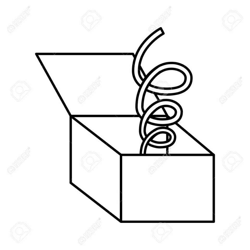 面白いオモチャ箱分離アイコン ベクトル イラスト デザインのイラスト