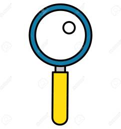 search magnifying glass icon vector illustration design stock vector 77989106 [ 1300 x 1300 Pixel ]