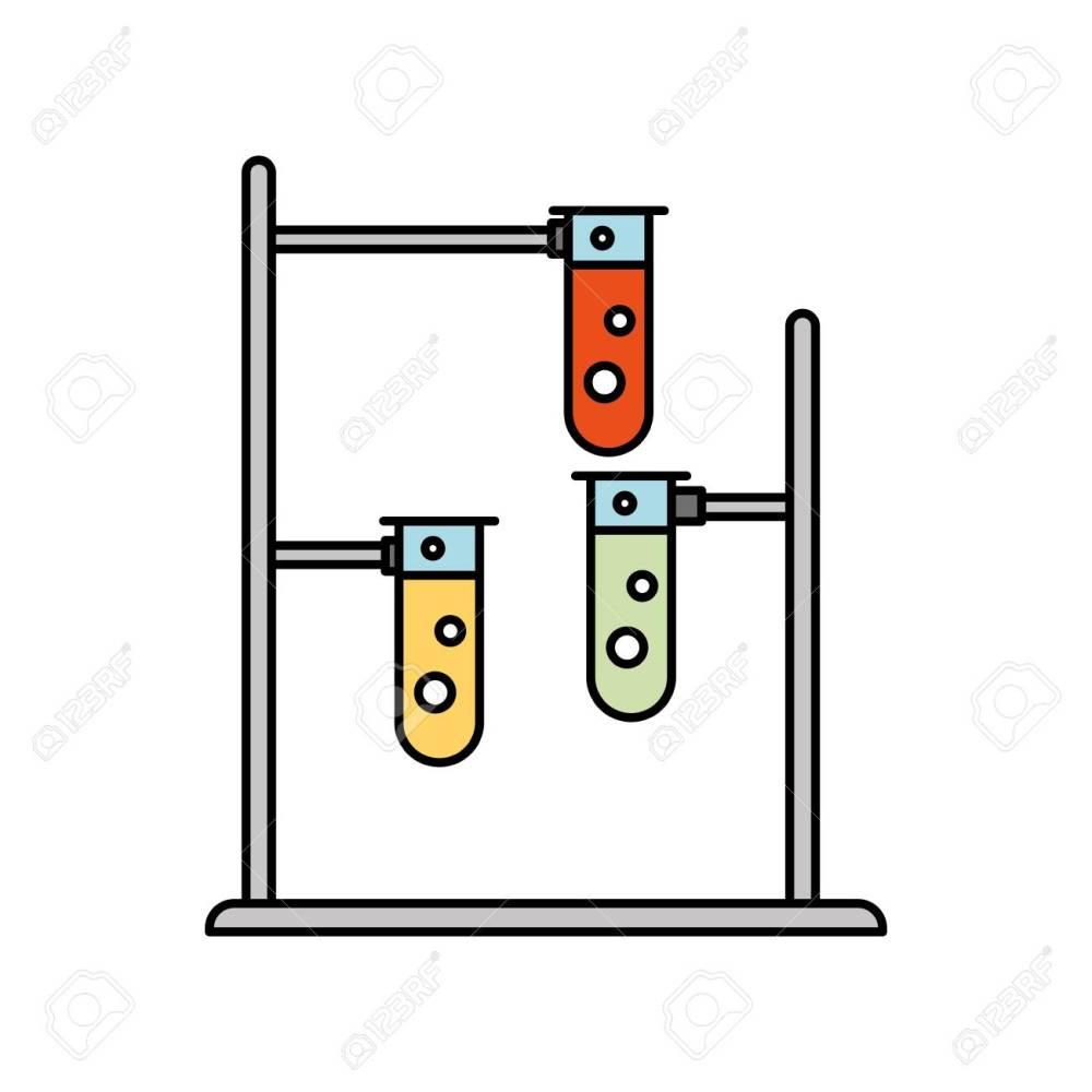 medium resolution of laboratory tube test with burner base vector illustration design stock vector 83835439