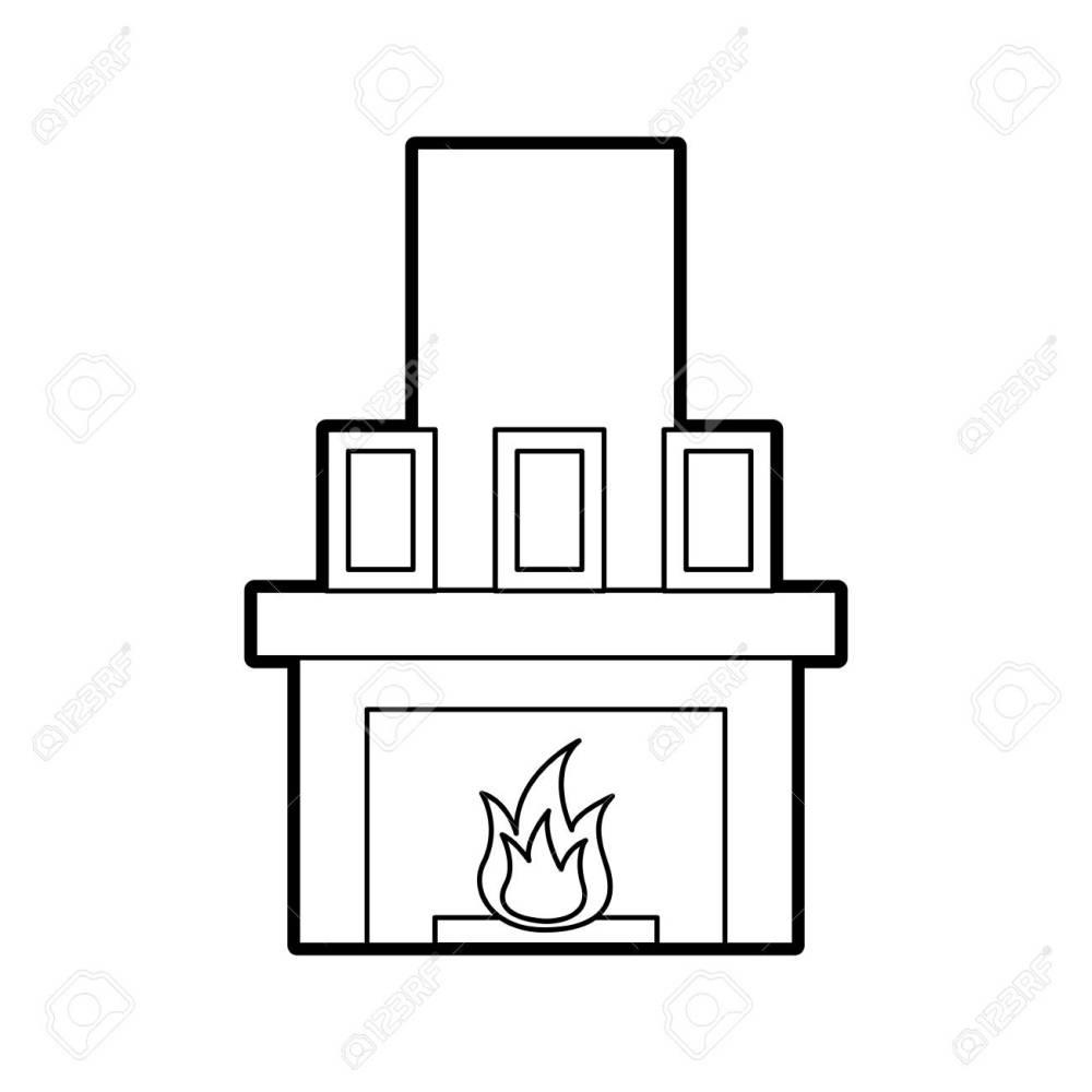 medium resolution of fireplace chimney flame indoor decoration vector illustration stock vector 85783259