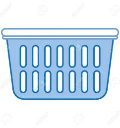 plastic basket laundry icon vector illustration design stock vector 90402704 [ 1300 x 1300 Pixel ]
