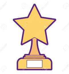 star trophy winner icon illustration design stock vector 91870337 [ 1300 x 1300 Pixel ]