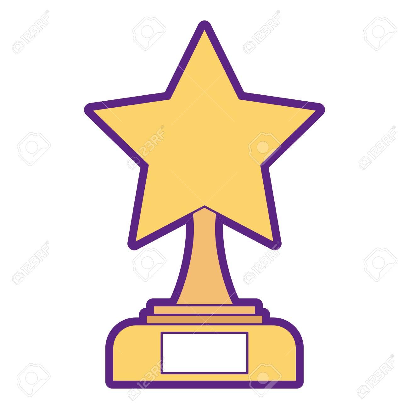 hight resolution of star trophy winner icon illustration design stock vector 91870337