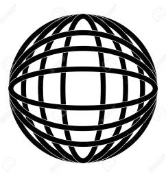 earth globe diagram icon image vector illustration design black and white stock vector 92184818 [ 1300 x 1300 Pixel ]