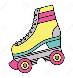 classic roller skate laced wheels retro fashion vector illustration stock vector 94420542 [ 1300 x 1300 Pixel ]