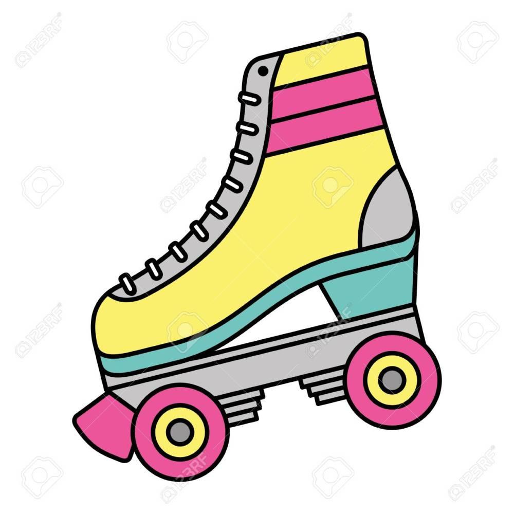 medium resolution of classic roller skate laced wheels retro fashion vector illustration stock vector 94420542