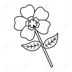 Flower Stem Petal Leaves Natural Spring Image Vector Illustration Royalty Free Cliparts Vectors And Stock Illustration Image 94440731