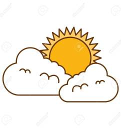climate cloud with sun vector illustration design stock vector 99244003 [ 1300 x 1300 Pixel ]
