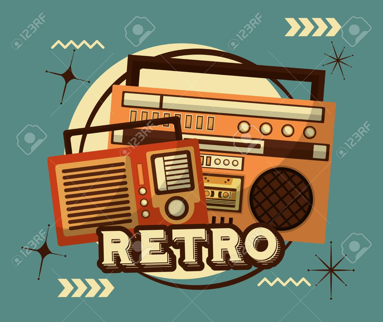 radio and boombox stereo