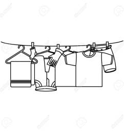 clothes drying on wire vector illustration design stock vector 104046534 [ 1300 x 1300 Pixel ]